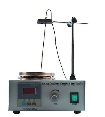 Lab Supply Magnetic Stirrer with Heating Plate Digital Display Dual Controls110V