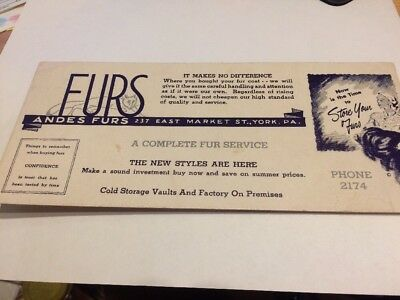Andes Furs York,pa Blotter