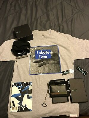 Diamond Suppy Co Bundle- Nwt Medium T-Shirt, Belt, Pouch, And Skating Book