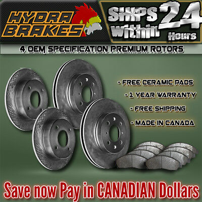 Fits 1998 1999 2000 2001 Chevrolet Blazer 2Wd Oe Blank Brake Rotors Ceramic