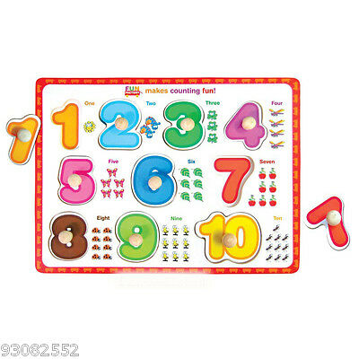 Wooden Knob Number Puzzle