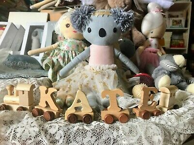 Create a personalised Gift with these Wooden Alphabet Train Letters