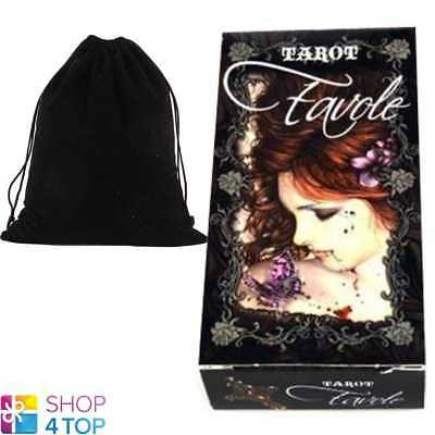 Favole Tarot Deck Victoria Frances Cards Divination Fournier With Velvet Bag New