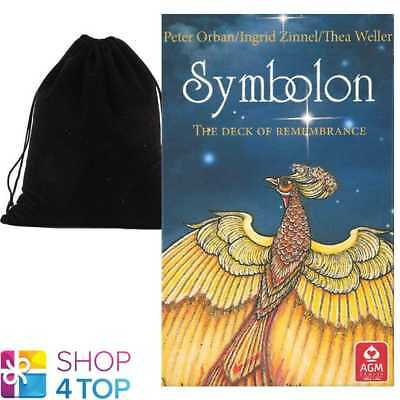 Symbolon Pocket Tarot Deck Cards Esoteric Telling Agm With Velvet Bag New