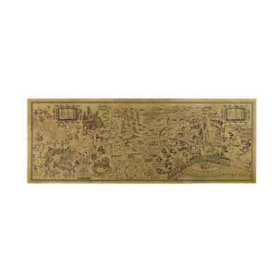 Free shipping,Harry Potter Magic world map Famous view/kraft paper/Cafe/bar post