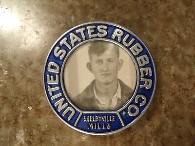 50s UNITED STATES RUBBER  EMPLOYEE ID BADGE Shelbyville Tennessee James Dean lk.