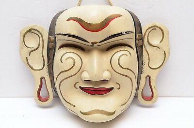 VTG Bali Indonesian Ceremonial dance mask wood painted Balinese java Javanese
