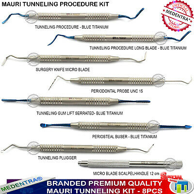 8pcs Periodontal Tunneling Procedure Gum Lift Dental Implant Instruments PPAELA