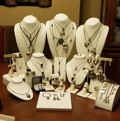 Sterling Silver Jewelry Lot more than 400 Grams 14k rings necklace bracelets