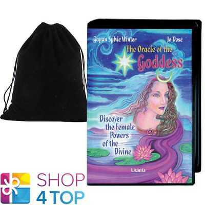 The Oracle Of The Goddess Set Book Deck Cards Esoteric Agm With Velvet Bag New