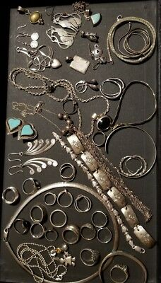 Mixed Lot- Sterling Silver Jewelry, 925 almost 300 grams No Reserve!