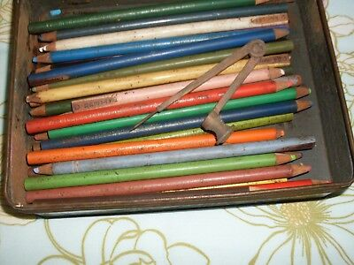 Vintage 36 Derwent Pencils, Compass, 1964