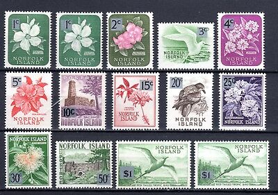 1966 ***MUH*** NORFOLK Island  COMPLETE SET of 14 Stamps SURCHARGED to DECIMAL.