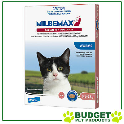 Milbemax Allwormer For Kittens & Small Cats - 2, 4, 8 or 20 Tablets