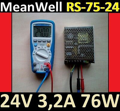 MW 24V MeanWell 76W RS75 24 RepRap CNC LED Drucker Netzteil Power Supply Qswitch