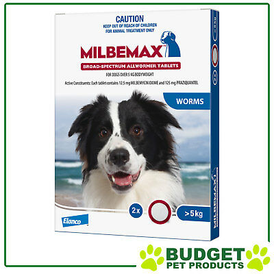 Milbemax Allwormer For Dogs Over 5kg - 2, 4, 8 or 20 Tablets