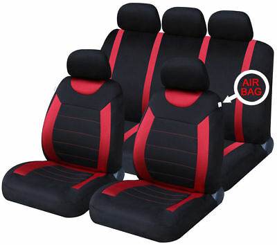 Red Carnaby Luxury Full Set Car Seat Covers For NISSAN QASHQAI + 2 2010> 7SEATER