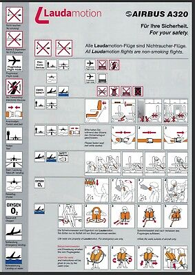 Safety Card / Laudamotion / Airbus A320