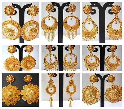 22k Gold Plated Indian Variation Diffe Earrings Jhumka Party Wedding Design