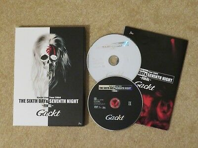 "GACKT DVD ""The 6th Day & The 7th Night"" DEARS Edition J-POP J-ROCK *wie neu*"