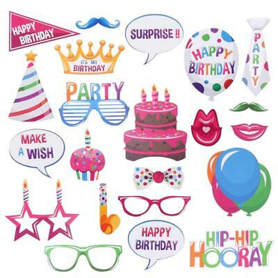 22pcs Party Props Photo Booth Selfie Wedding Birthday Party Photography Set UK