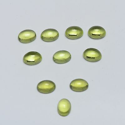 Natural Green Peridot 4x3mm Oval Cabochon 25 Pices Top Quality Loose Gemstone AU