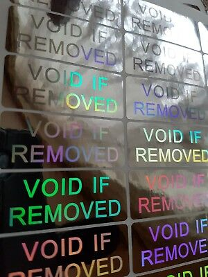 100x large VOID IF REMOVED TAMPER EVIDENT security hologram stickers, 50mmX20mm