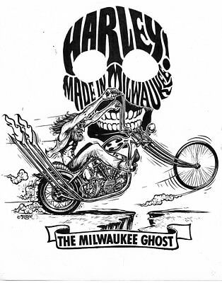 """Ed """"Big Daddy"""" Roth """"HARLEY! Made in Milwaukee"""" poster"""