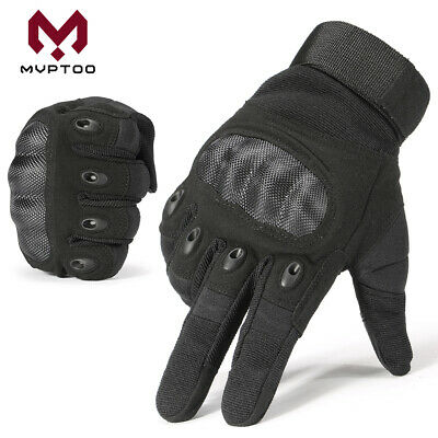 Motorcycle Hard Knuckle Full Finger Gloves Motorbike Cycling Racing Tactical