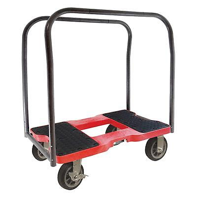 SNAP-LOC ALL-TERRAIN PANEL CART DOLLY RED with 1500 lb Capacity, Steel Frame, 4