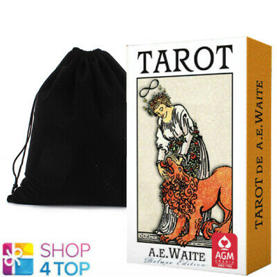 Ae Waite Tarot Deluxe Deck Cards Premium Edition Telling Agm With Velvet Bag New