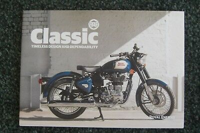 Royal Enfield Classic Brochure, 2018, Free Postage.