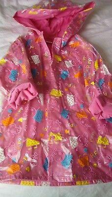 peppa pig rain coat mac 18mth 1.5-2yrs