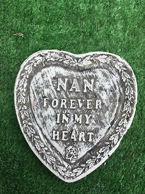 Fibreglass Case And Mould/ Heart Mould/ Nan Forever In Our Hearts