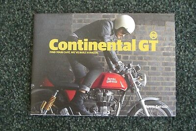 Royal Enfield Continental Gt Brochure, 2018, Free Postage.