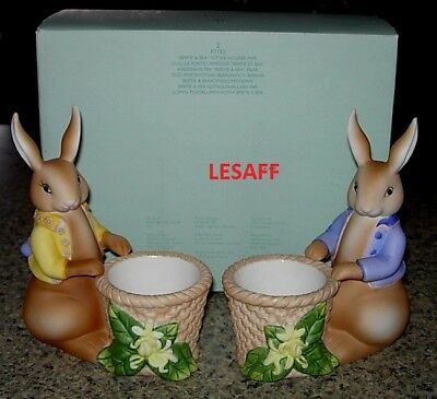Partylite Easter Bunny Bertie And Bea Candle Votive Holders P7735 NIB Retired