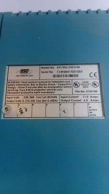SSD Drives Single Phase Inverter Model No. 631/006/230/F/00