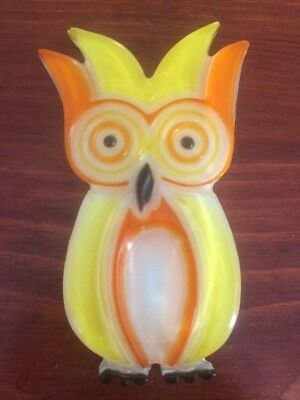 Vintage Retro Wondermold Resin Owl Spoon Caddy Spoon Rest From 1969!!