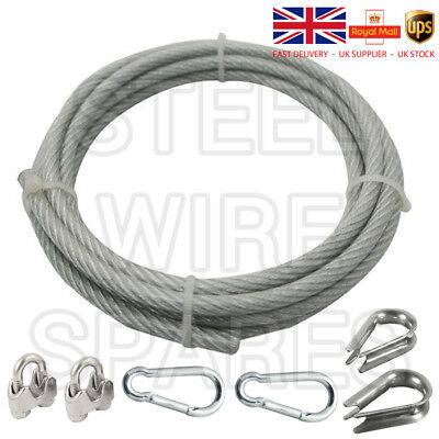 Galvanized Steel Clear PVC Plastic Coated Wire Rope Boat Gym Washing Line