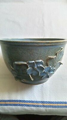 Tregaron pottery blue bowl/plant pot