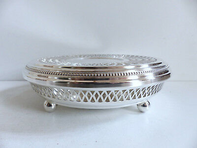 Superb Christofle Gallia Perles Silver Plated Round Plate Warmer
