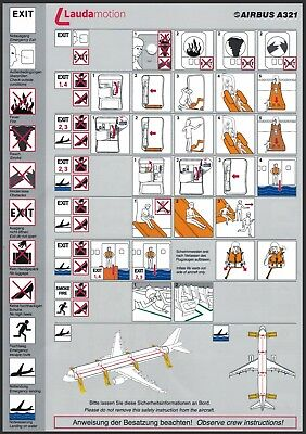 Safety Card / Laudamotion / Airbus A321
