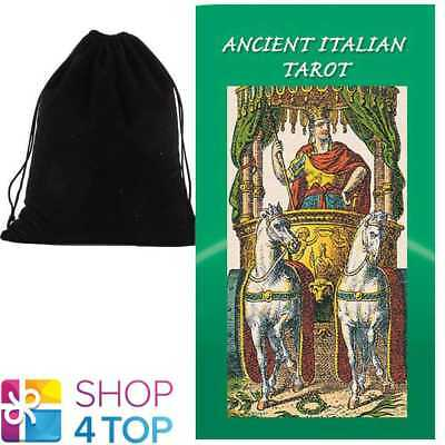 Ancient Italian Tarot Deck Cards  Esoteric Lo Scarabeo With Velvet Bag New