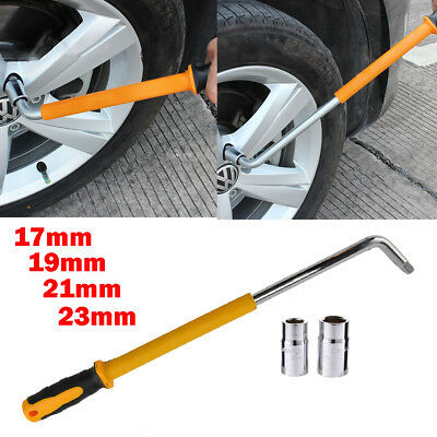 Car Handy Extendable Wheel Slip Tire Brace Wrench Socket Tyre Nut 17 19 21 23mm