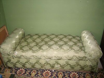 Vintage unusual chaise longue, ottoman day bed