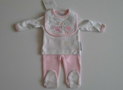 Premature preemie tiny baby girls clothes three piece set  5-8 lbs BNWT