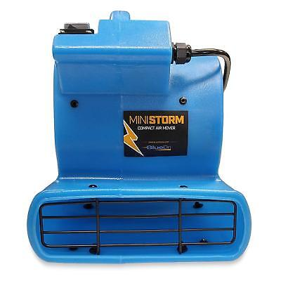 Soleaire Mini Air Mover Carpet Dryer-1/12 HP Floor Blower Fan for Home Use, Blue
