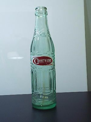 "Vintage Cheerwine 8 oz. Bottle ""It's Good Taste on all Occasions"" 8.75"" Tall"