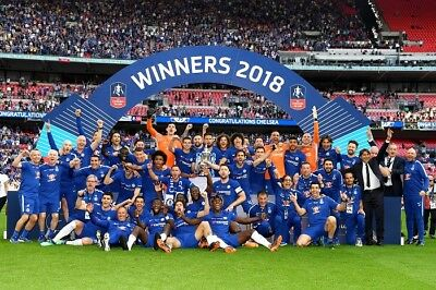 SALE CHELSEA FC FA CUP WINNERS 2018 HIGH QUALITY PROFESSIONAL PHOTOGRAPH 12x8