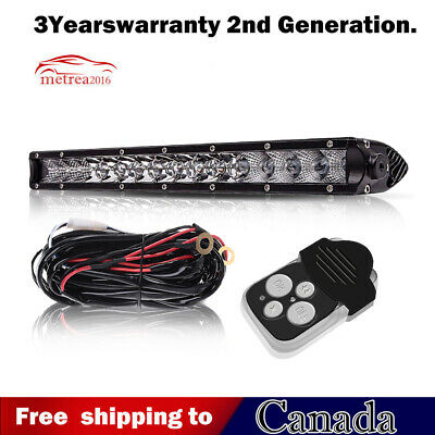 "10inch 11"" Single Row Slim LED Spot Work Light Bar OFFROAD DRIVING FORD  SUV ATV"